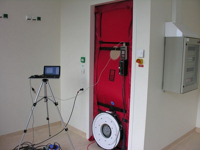 Luchtdichtheidstest clean room